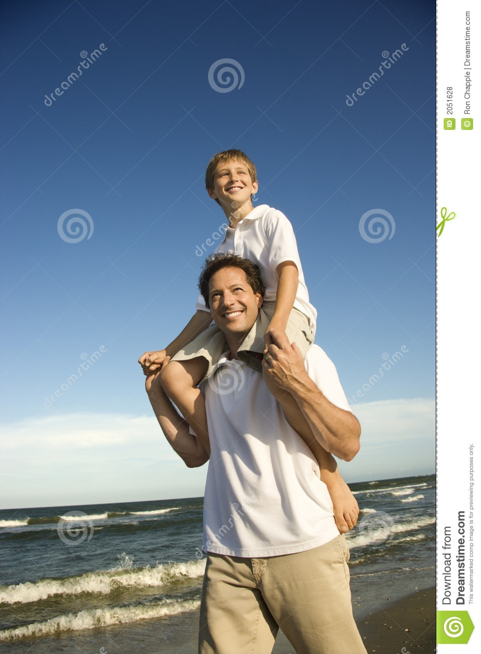 Dad Carrying Son Royalty Free Stock Photos Image 2051628