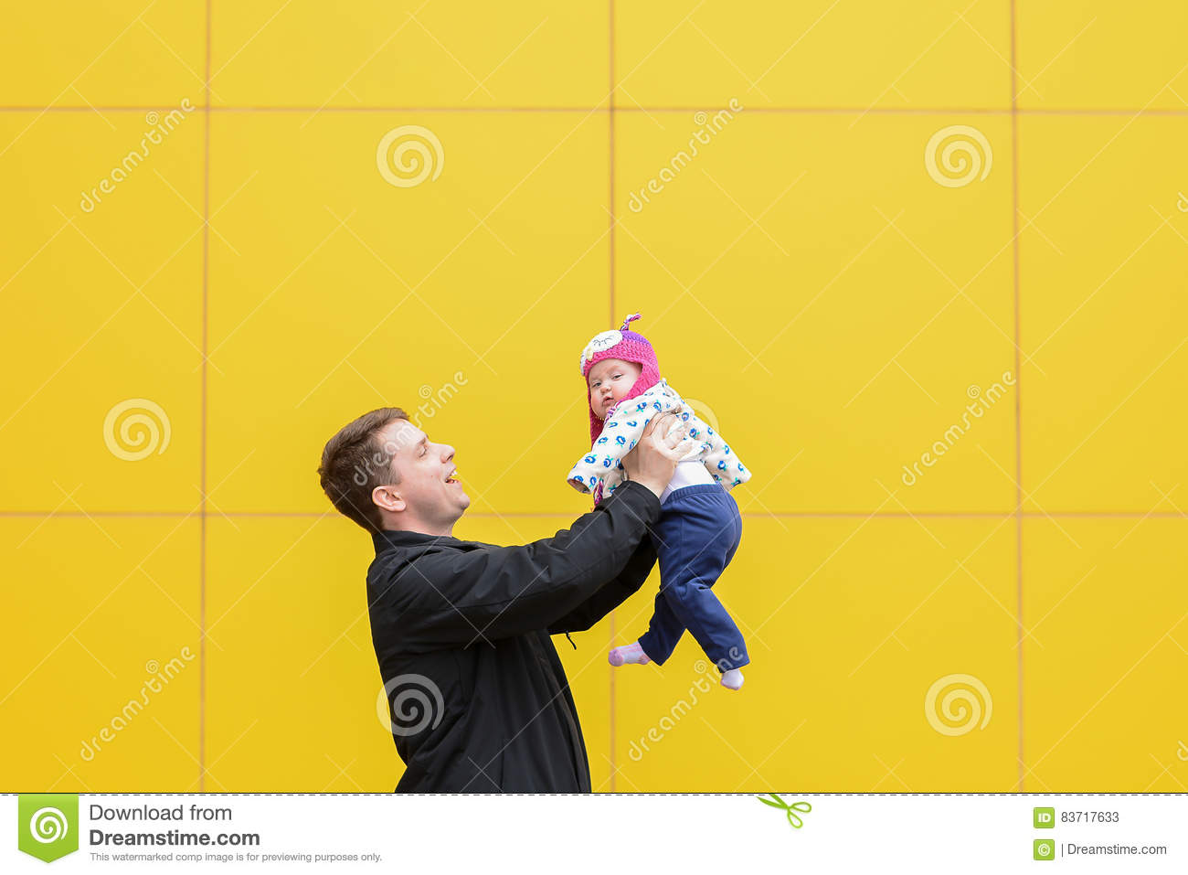 Dad Having Fun With Daughter Stock Photo
