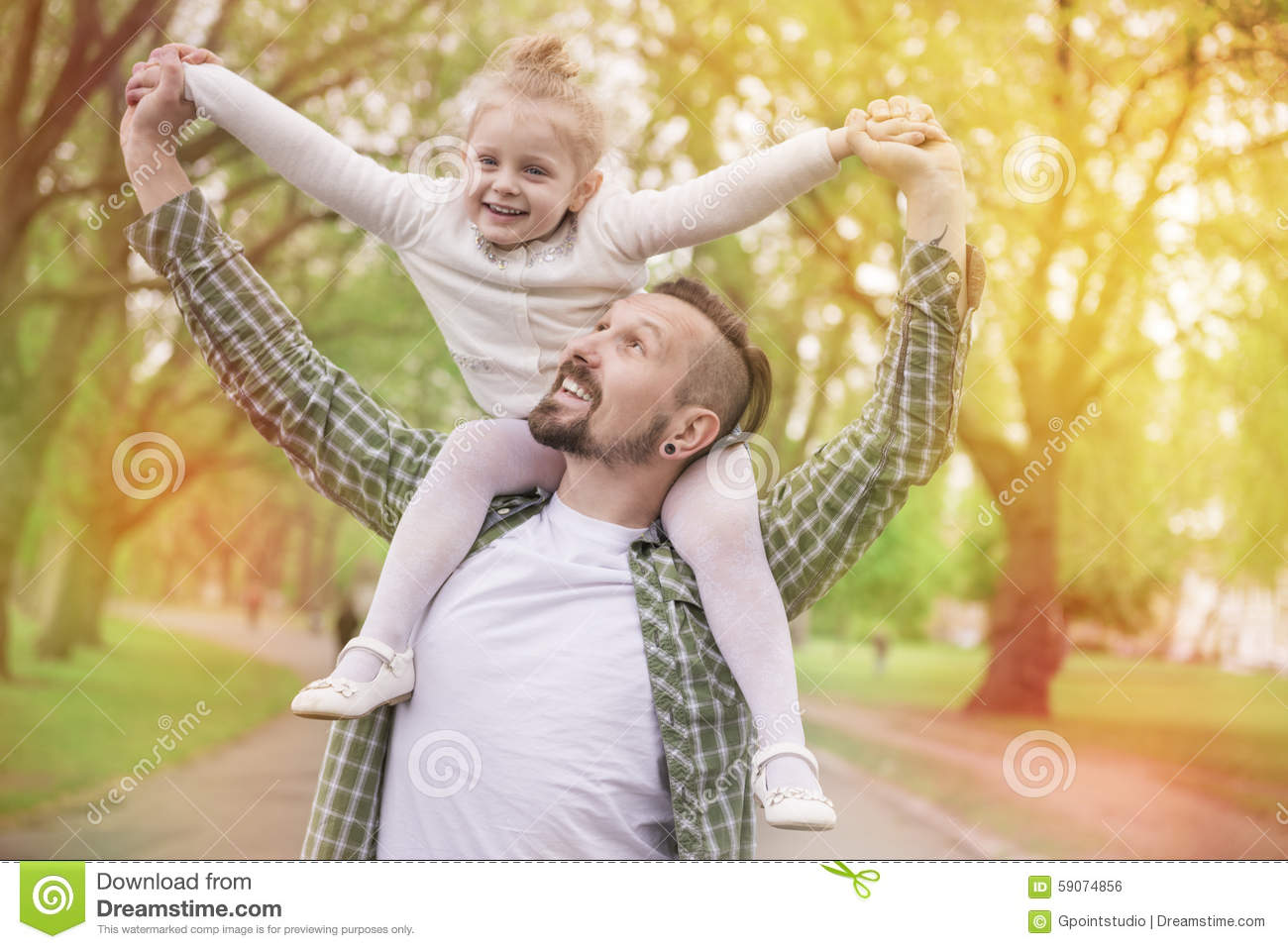 Dad With His Little Girl Stock Photo Image Of Child 59074856