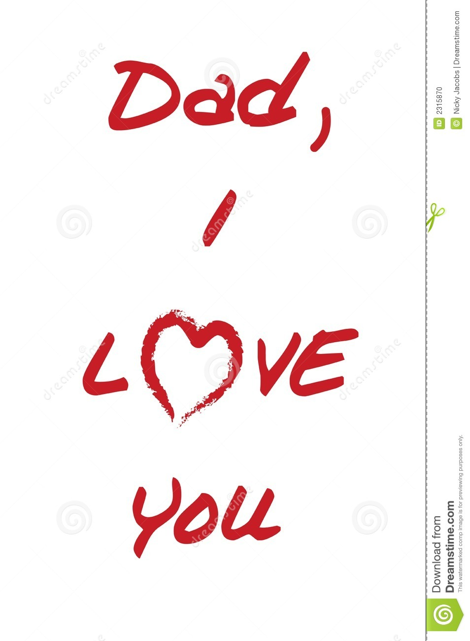 Dad I Love You Stock Vector Illustration Of Kids Pencil 2315870