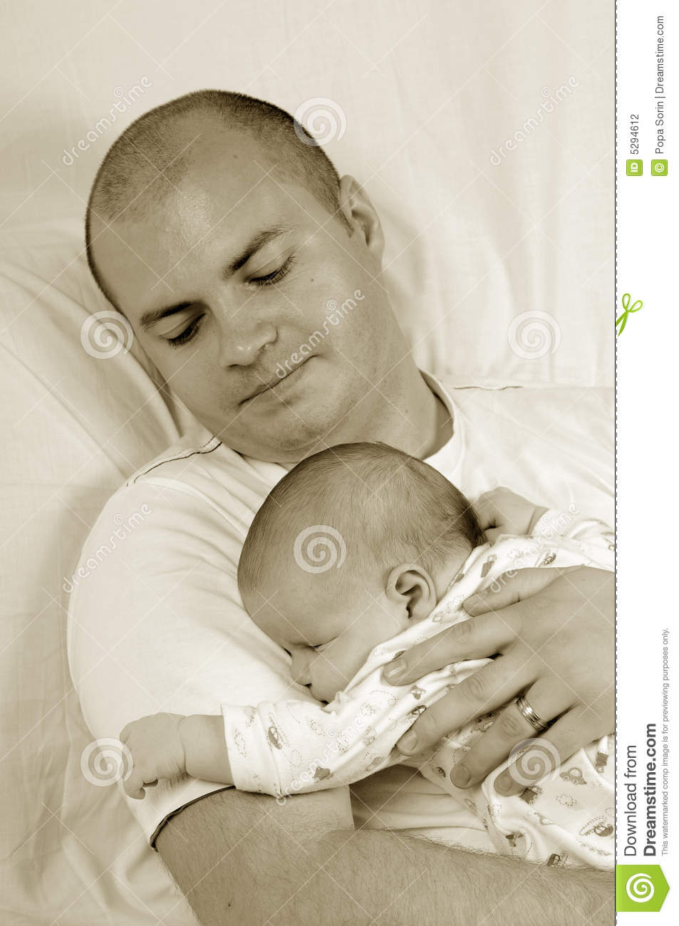 Dad And Little Baby Girl Stock Photography - Image: 5294612