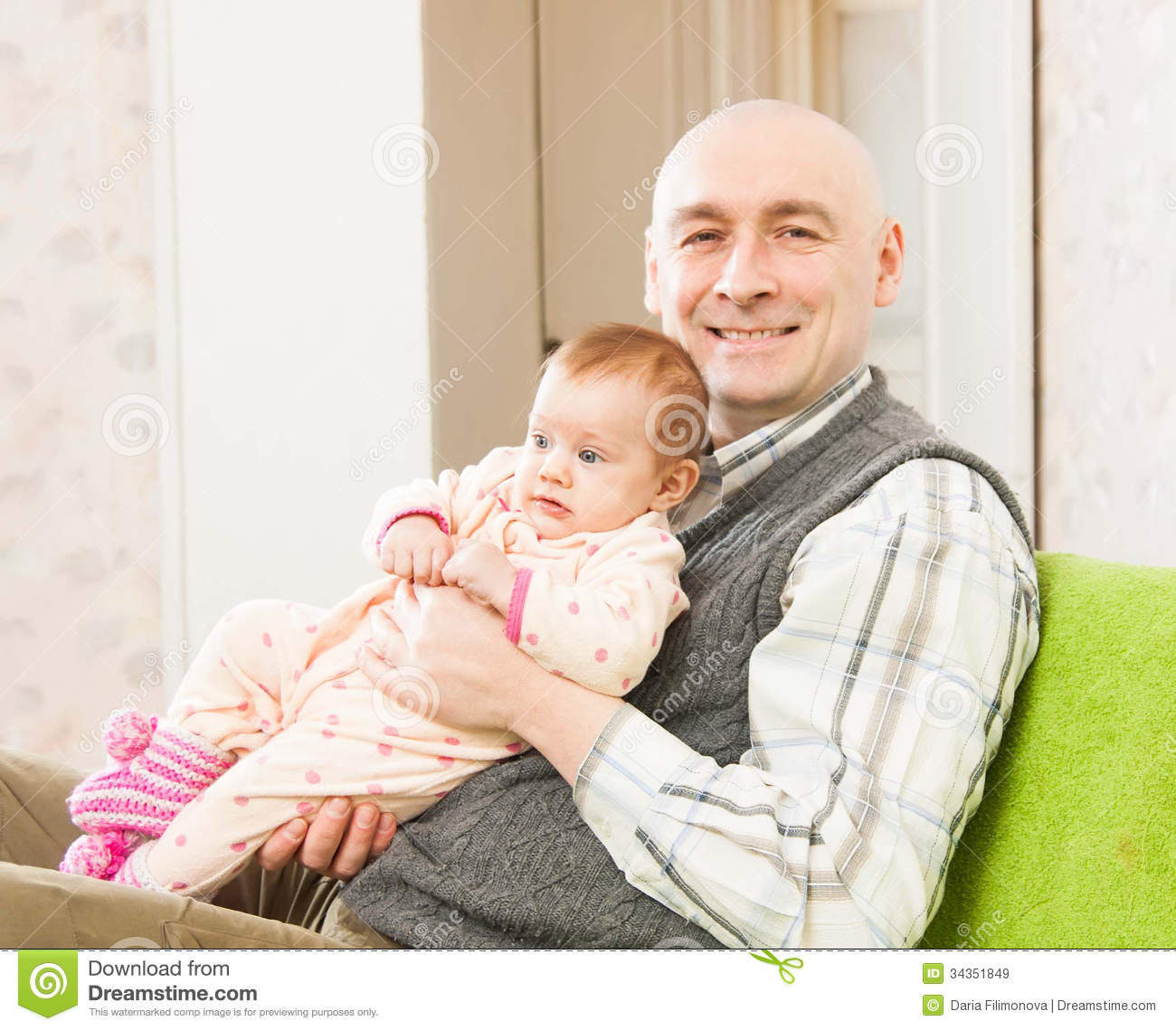 Dad and little daughter