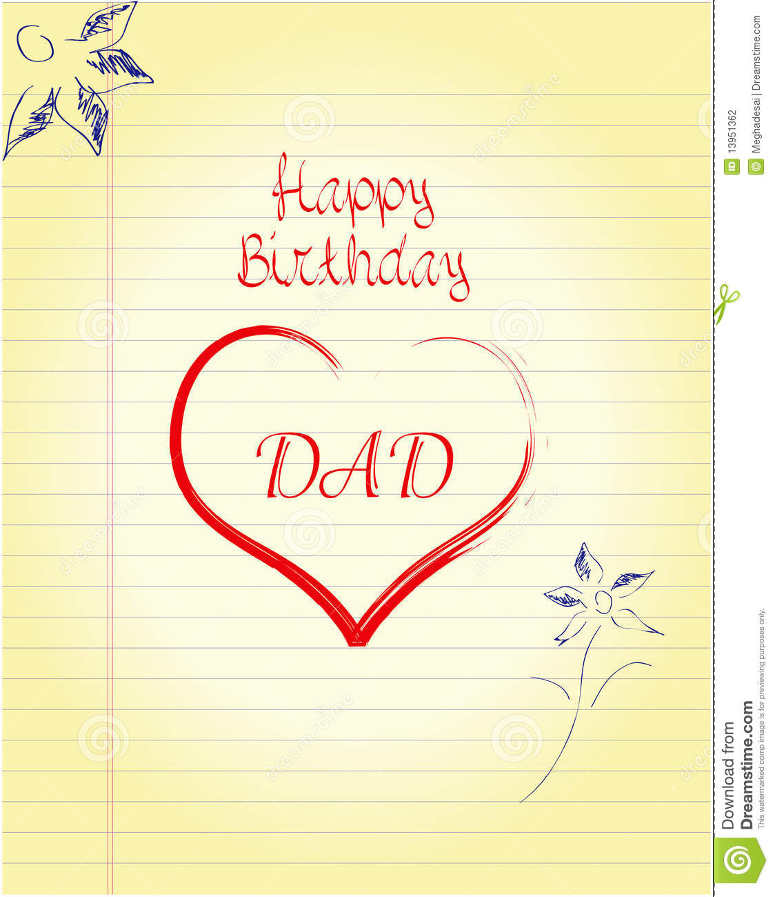 Dad's Birthday Stock Photography - Image: 13951362