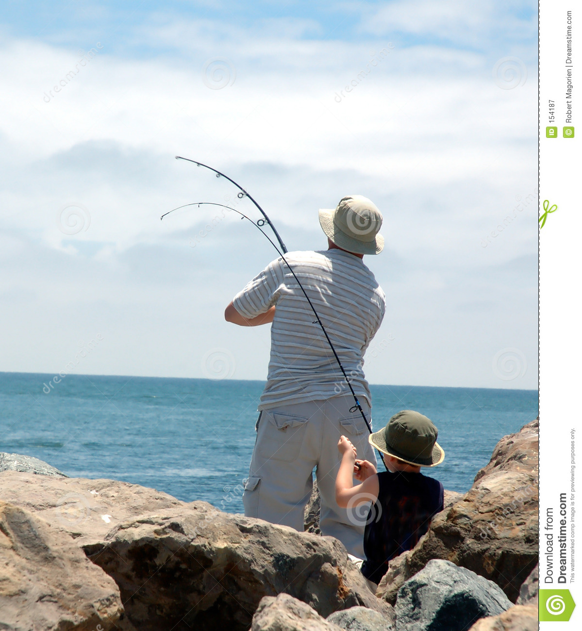 Dad and son fishing stock image image of youth relax for Fishing times free