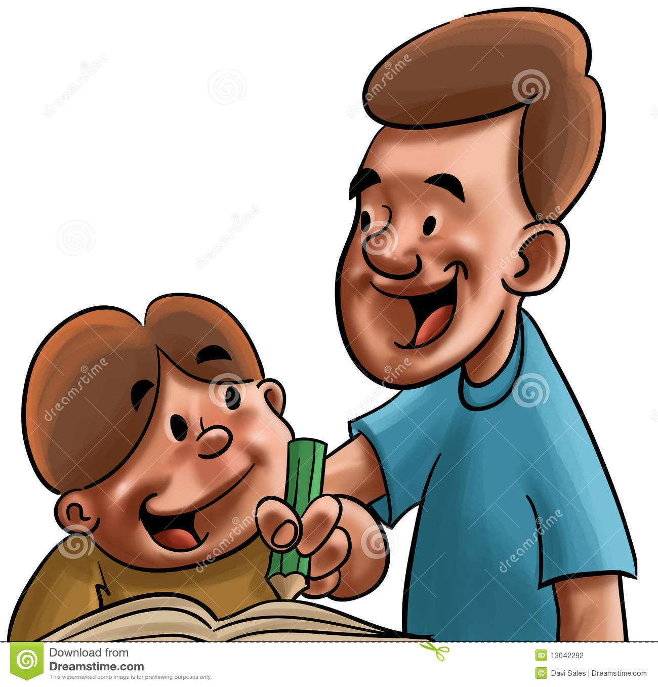 dad and son studying stock photography image 13042292