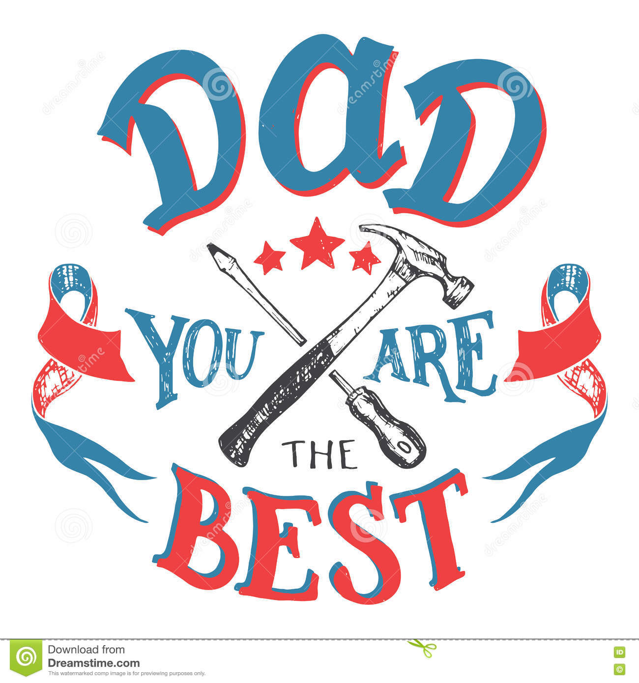 Lisa S Tool Time Father S Day Card: Dad You Are The Best Father's Day Greeting Card Stock