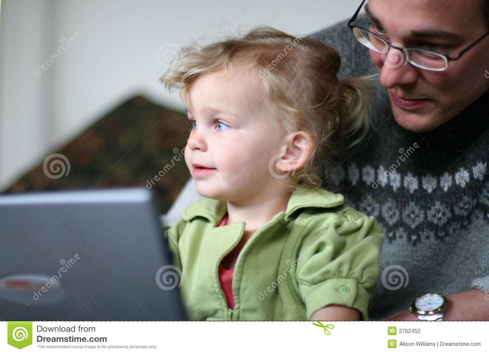 Daddy e bambino al calcolatore