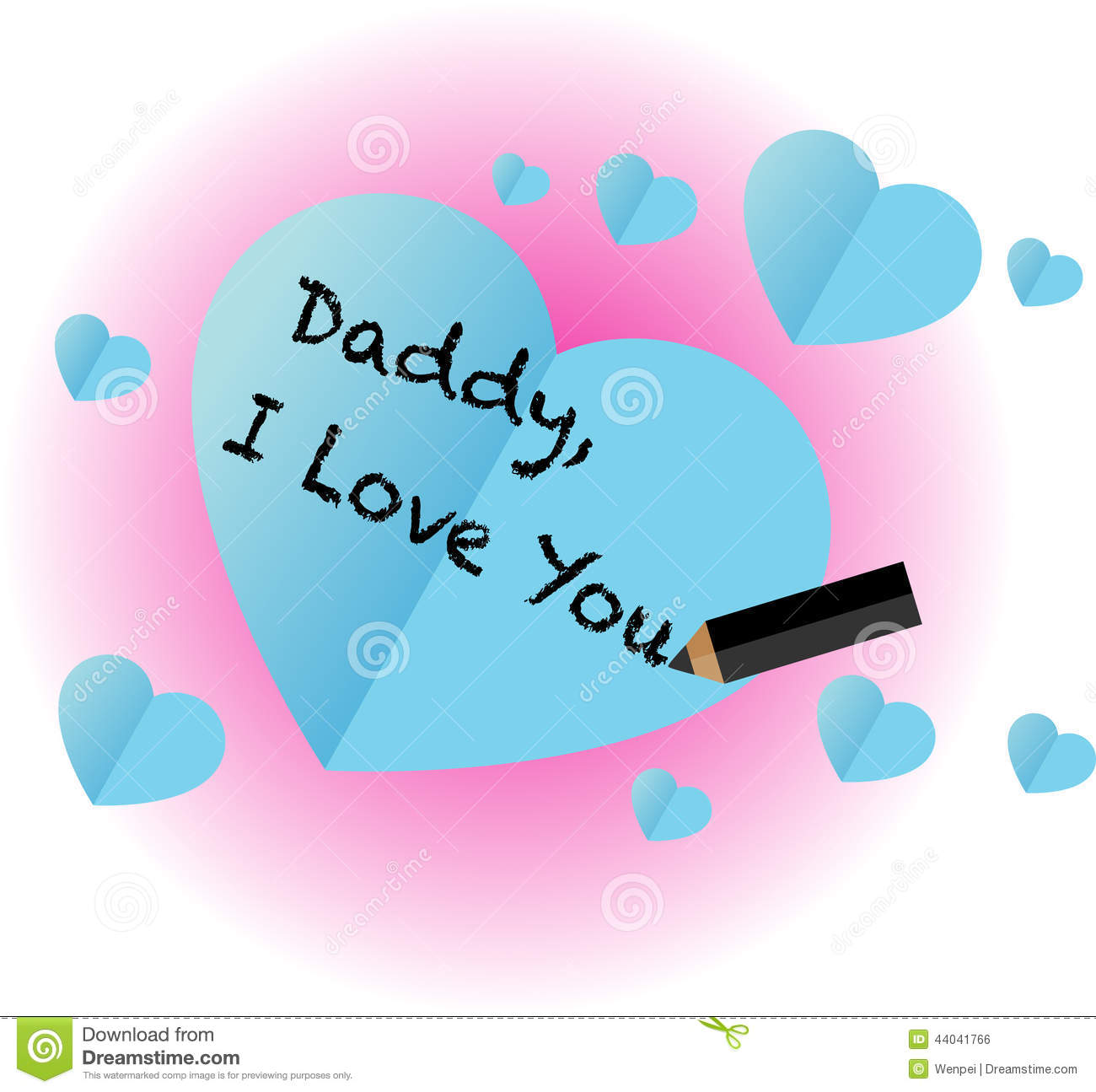 Daddy I Love You Stock Illustration Illustration Of Love 44041766