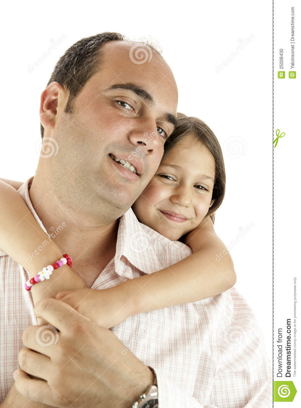 Father and daughter showing their love to each other.