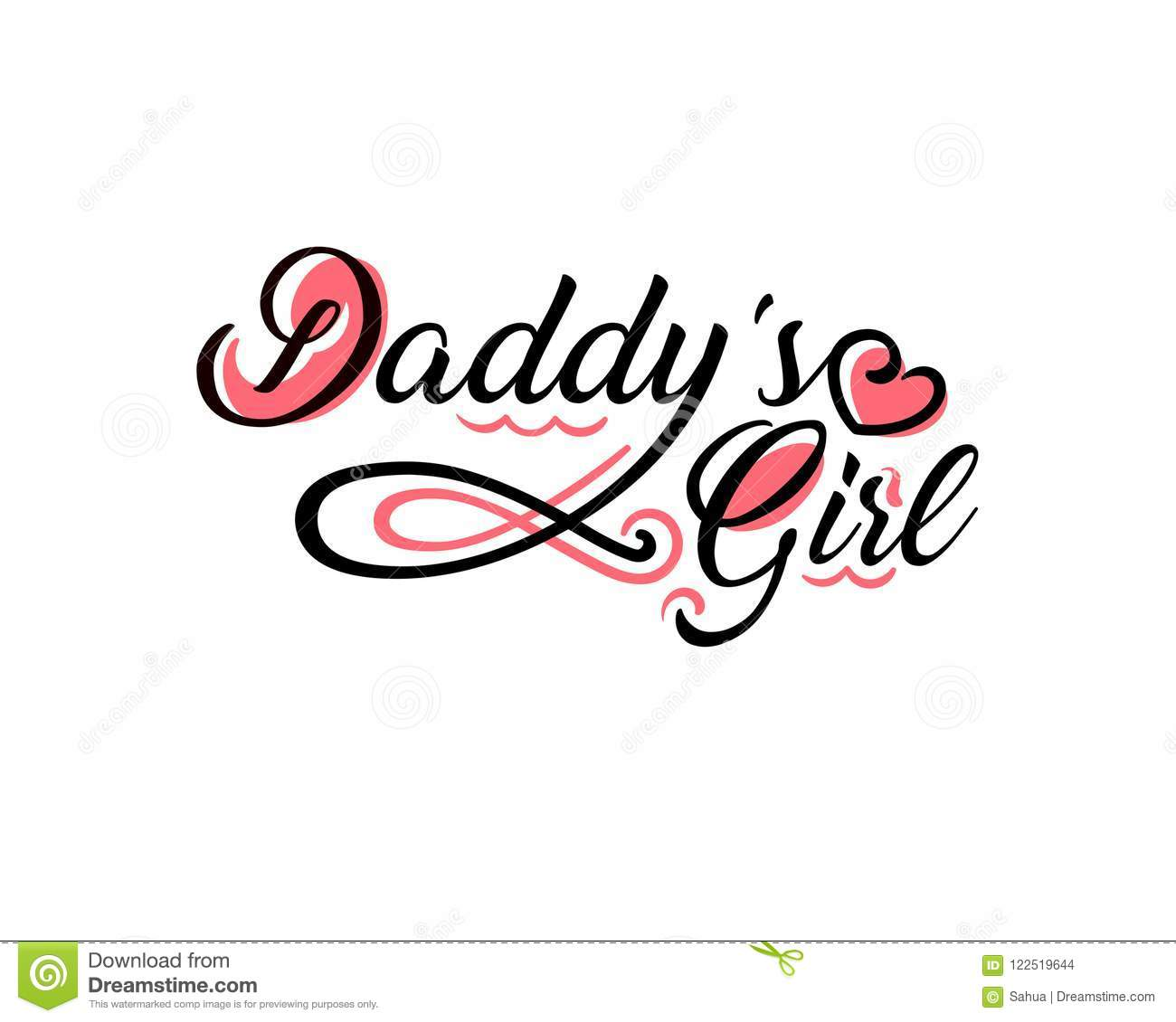 Daddys Girl Tattoo Stock Vector Illustration Of Ornament 122519644