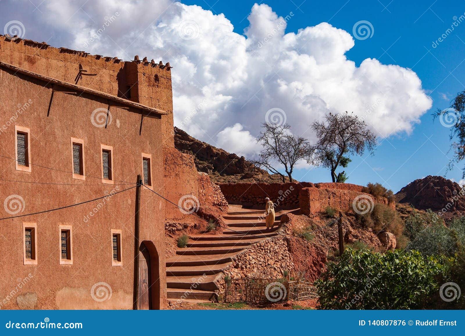 Dades wąwóz jest wąwozem Dades rzeka w atlant górach w Maroko