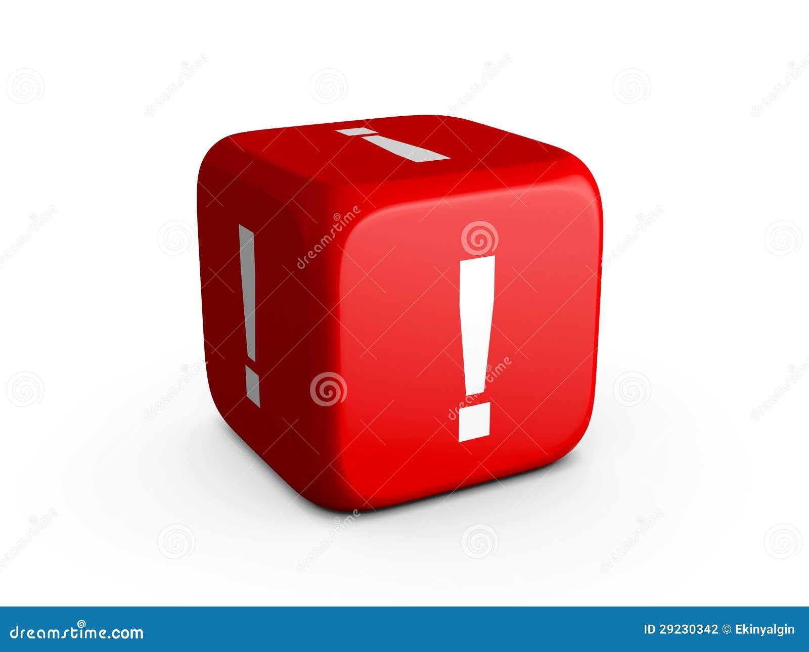 Download Dados Da Marca De Exclamação Ilustração Stock - Ilustração de gamble, exclamation: 29230342