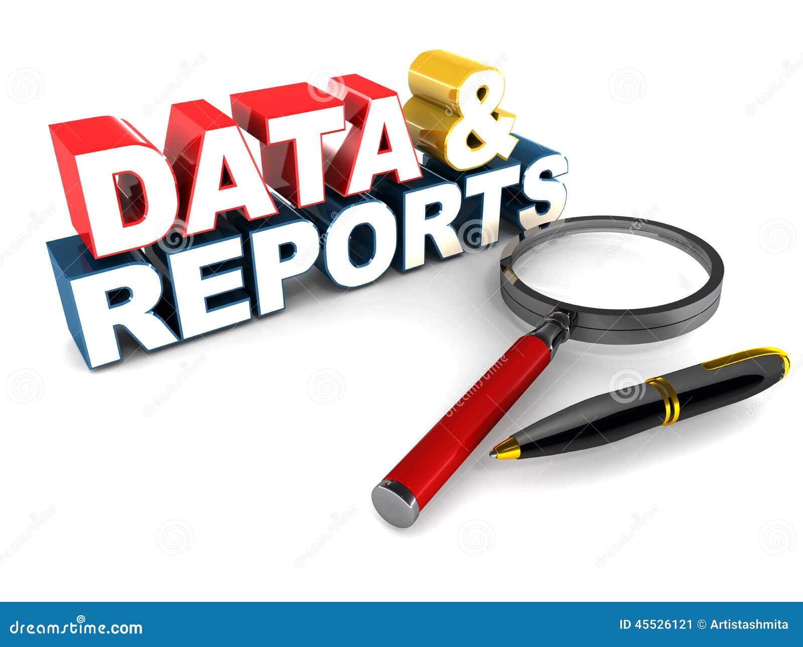Dados e relatórios