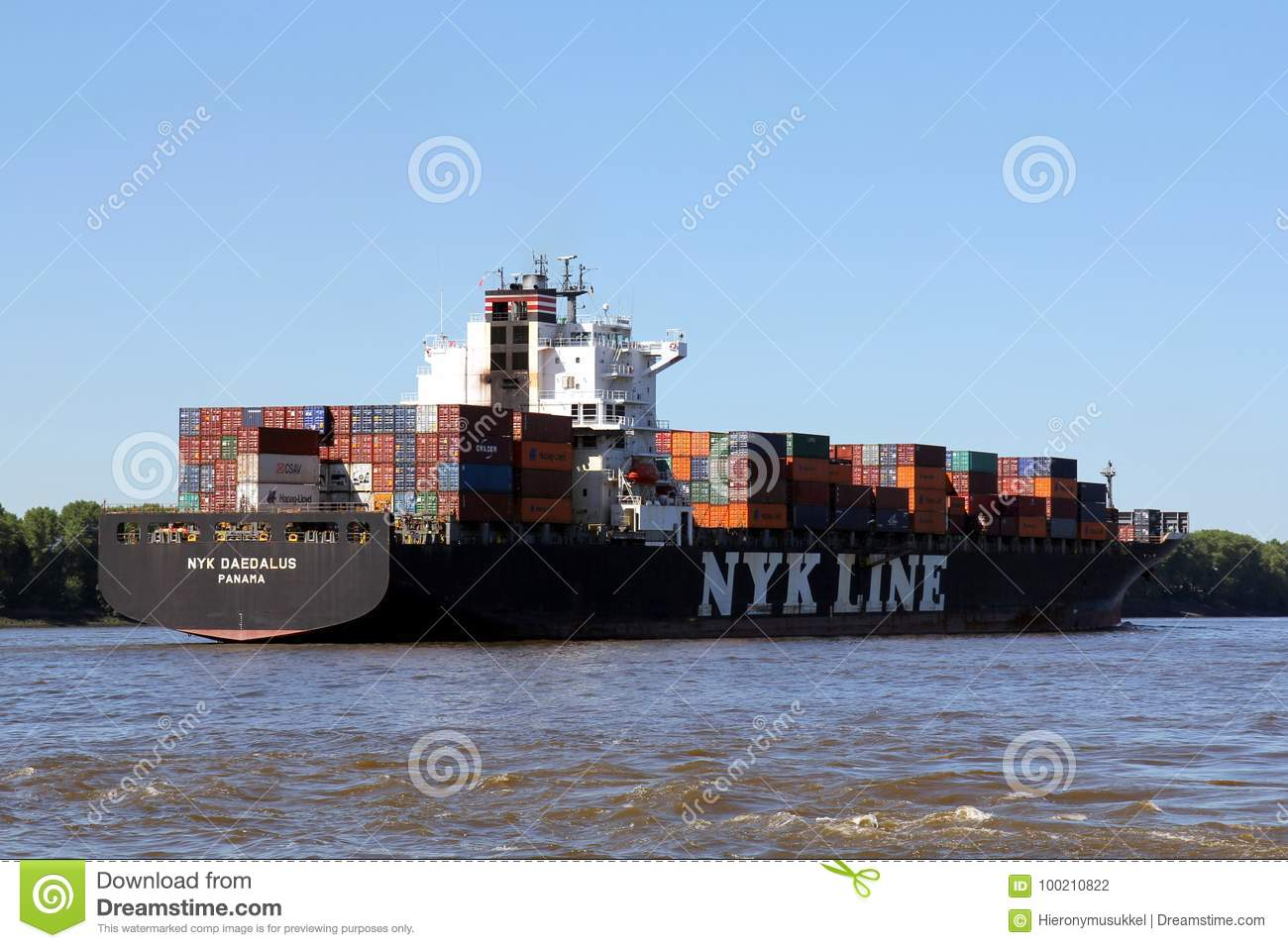 DAEDALUS from NYK LINE editorial photography  Image of river - 100210822