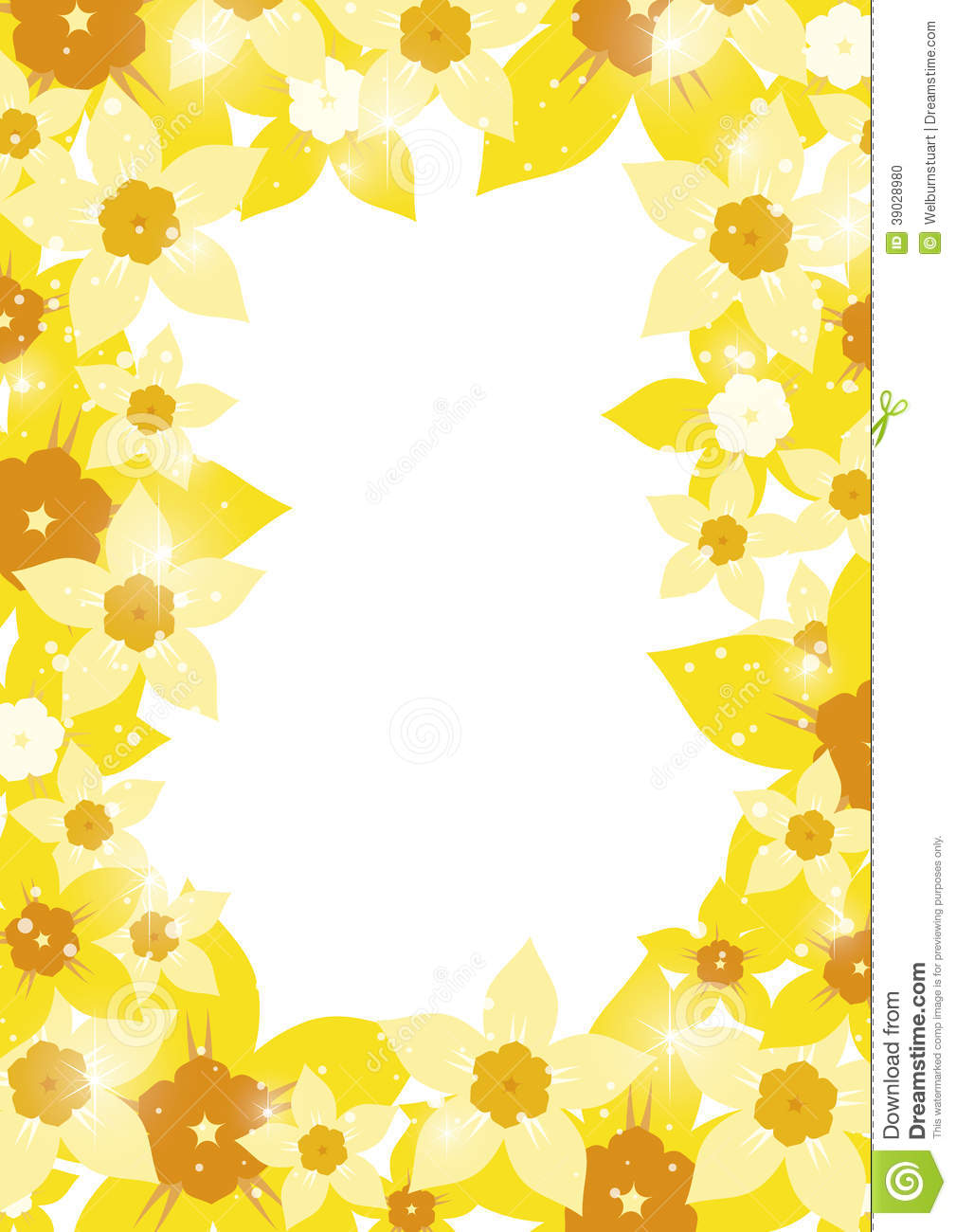 Daffodil border stock vector. Illustration of garden ...