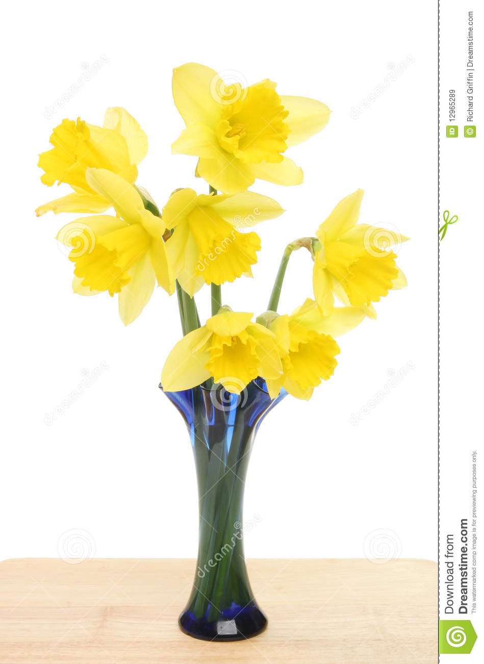 Daffodils In A Vase Stock Image Image Of Wooden Flower