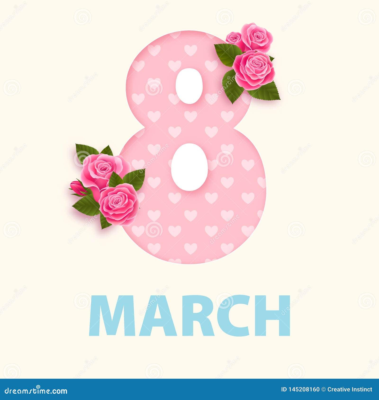 Dag 8 maart-ontwerp eps 10 van vrouwen