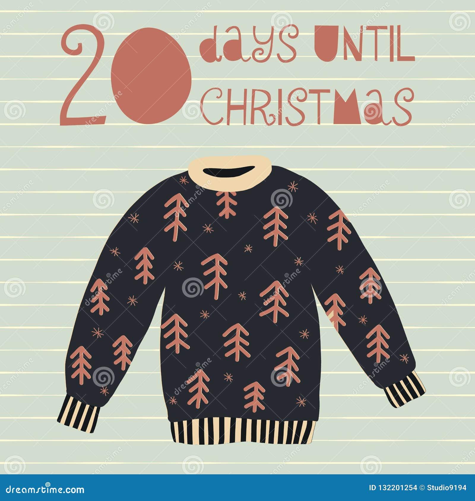 20 dagar till julvektorillustration christmas countdown