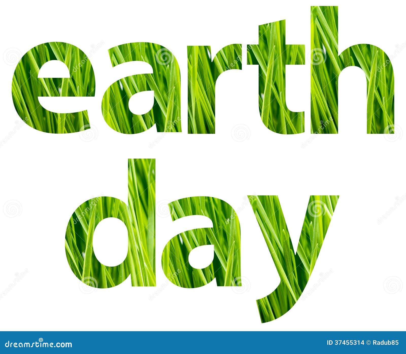 Dagen för grön jord uttrycker begrepp