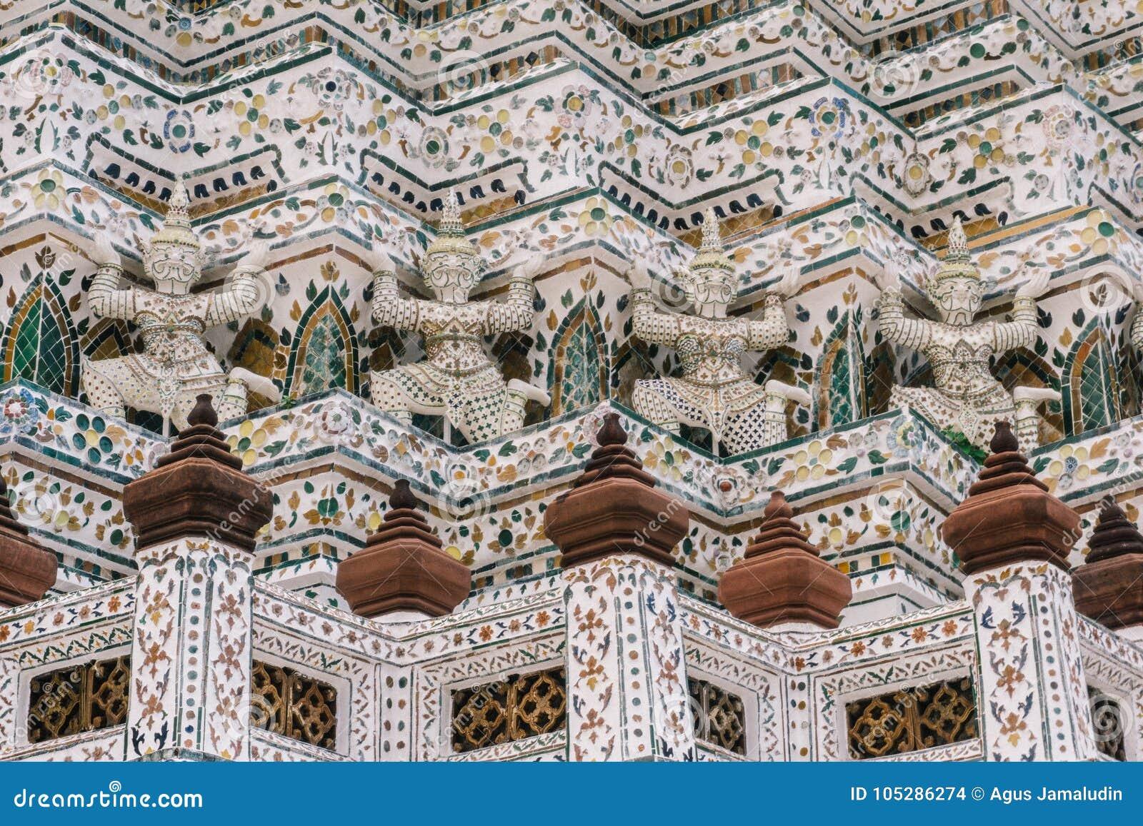 Dagen i bangkok, Thailand, Wat Arun Temple