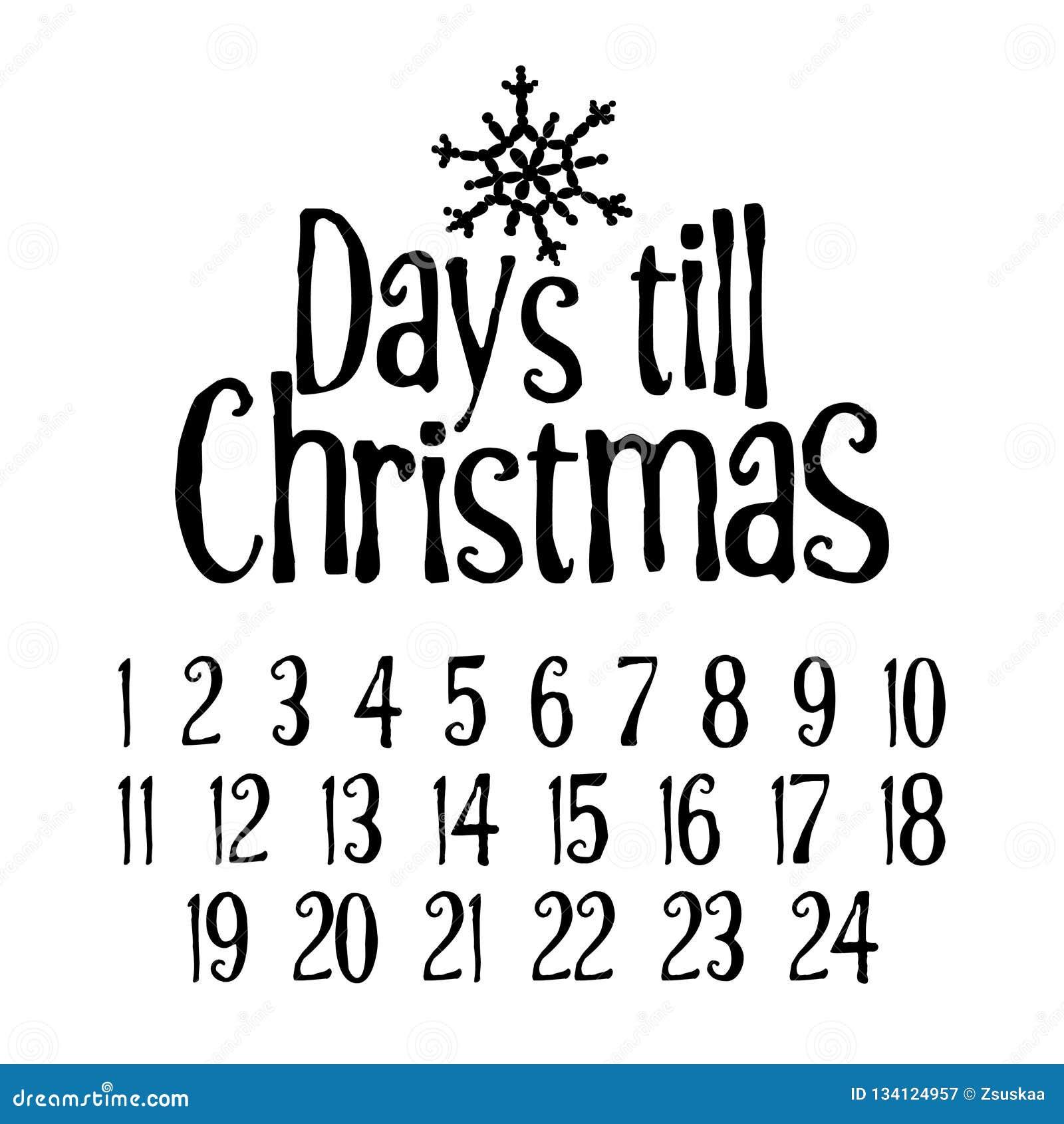 Dagen tot Kerstmis De vrolijke aftelprocedure van de Kerstmiskomst