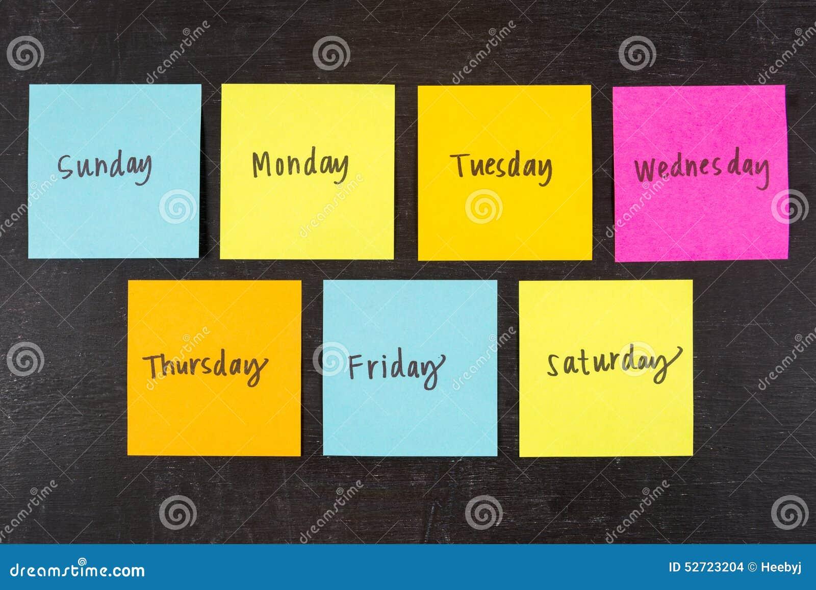 Dagen van de Nota s van de Weekstok