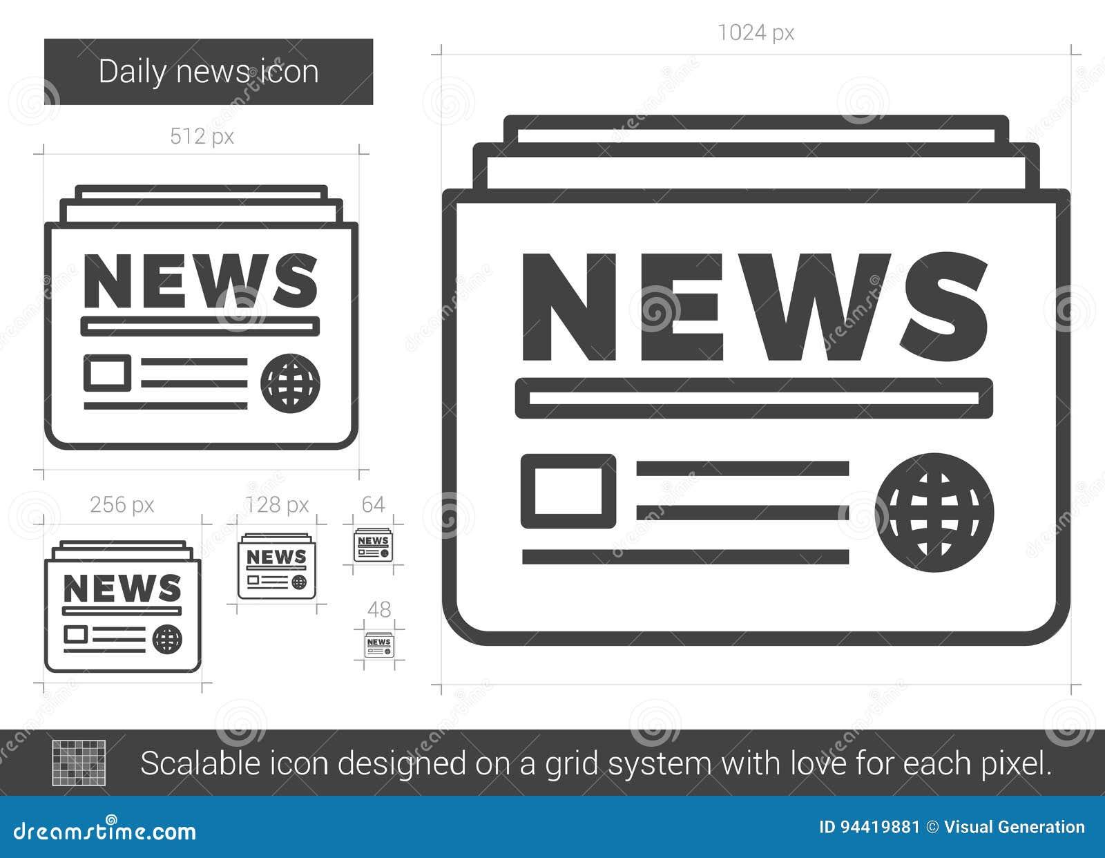 Daglig nyheternalinje symbol