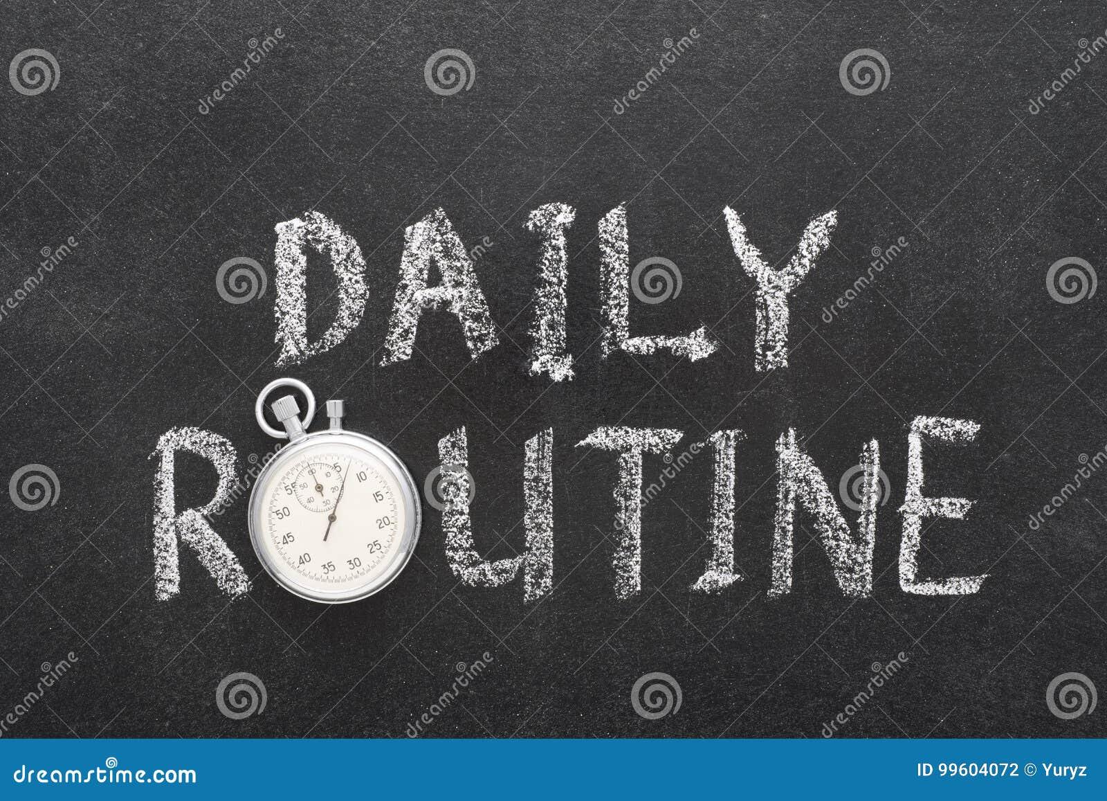 Daglig rutinmässig klocka