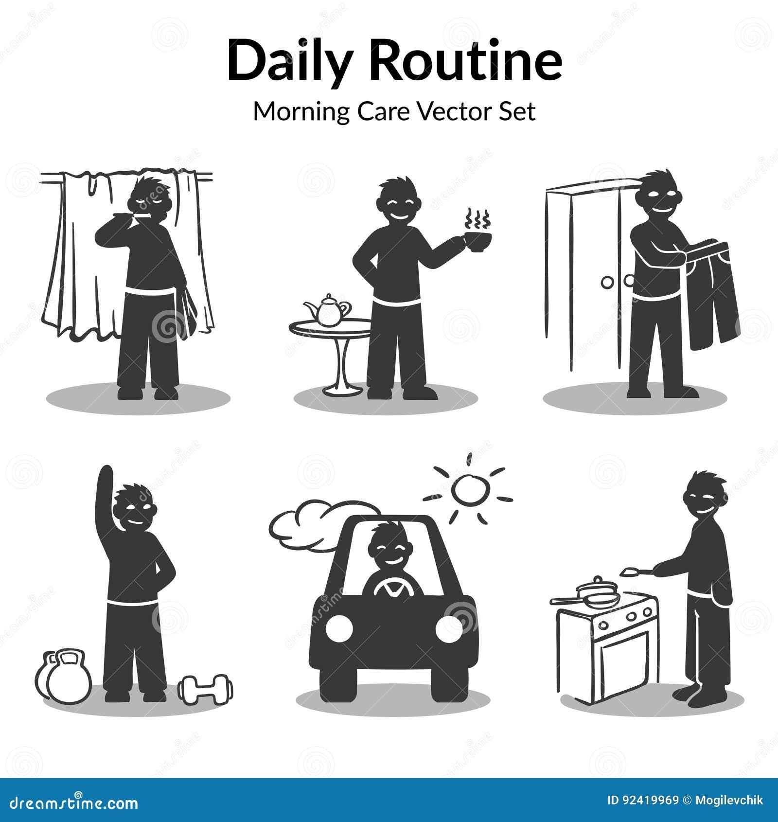 Daglig rutinmässig samling för morgon