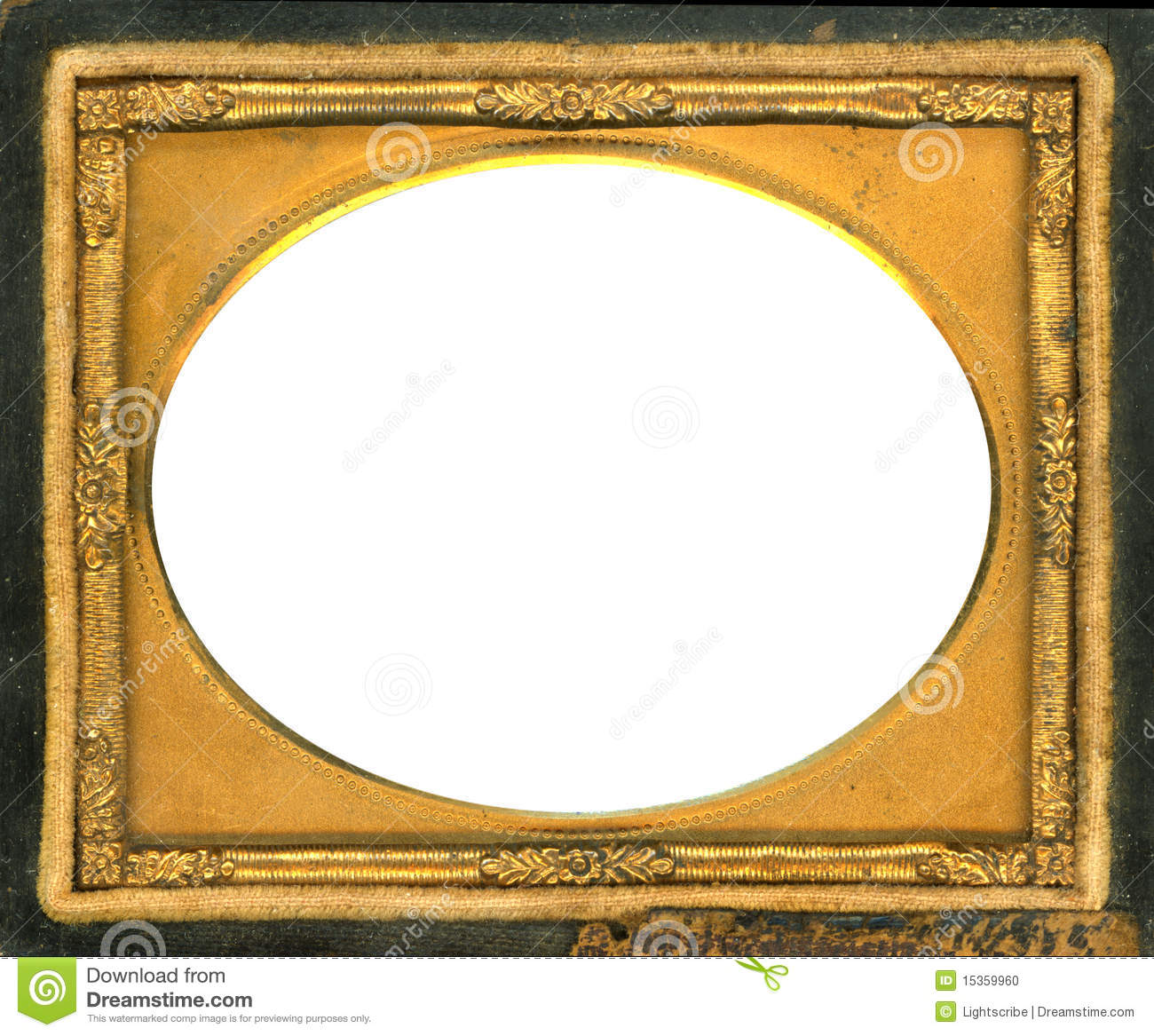 Daguerreotype Frame With Clipping Path Stock Photo Image 15359960