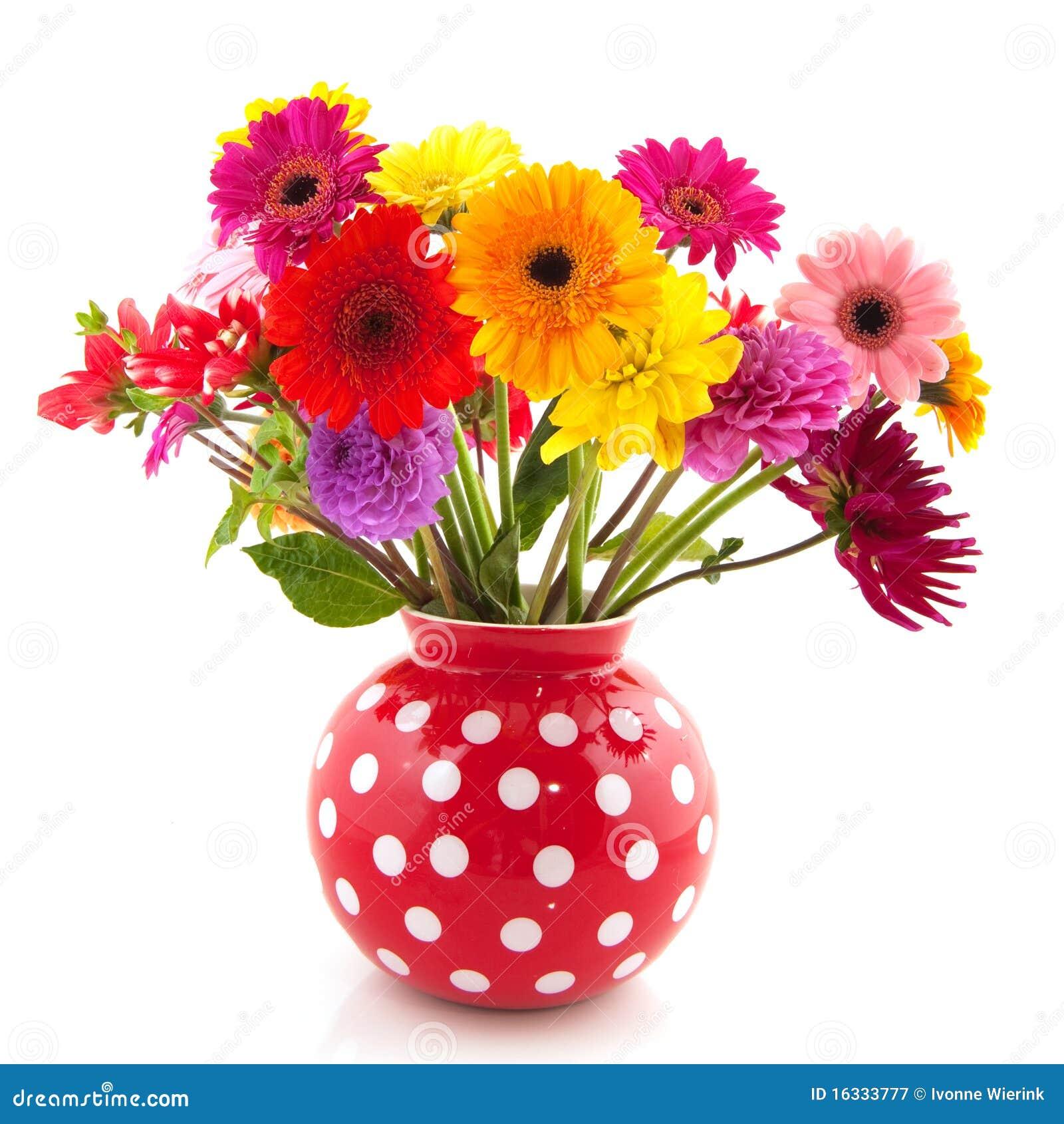 Dahlia en bloemen Gerber