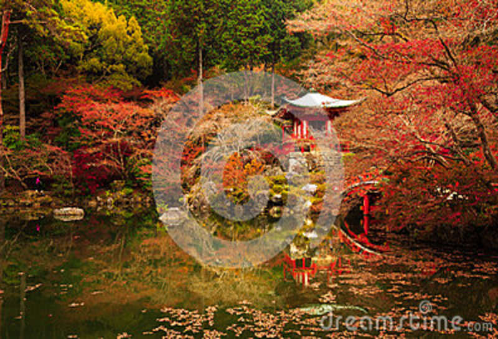 Daigoji寺庙,京都秋天在日本