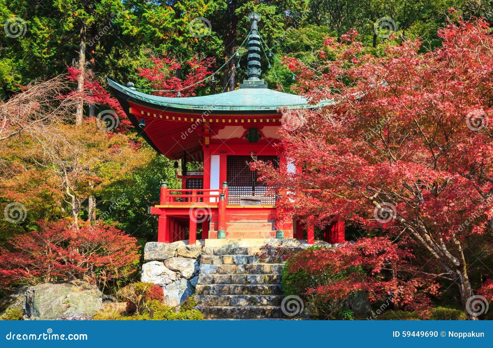 Daigoji świątynia w jesieni, Kyoto, Japonia