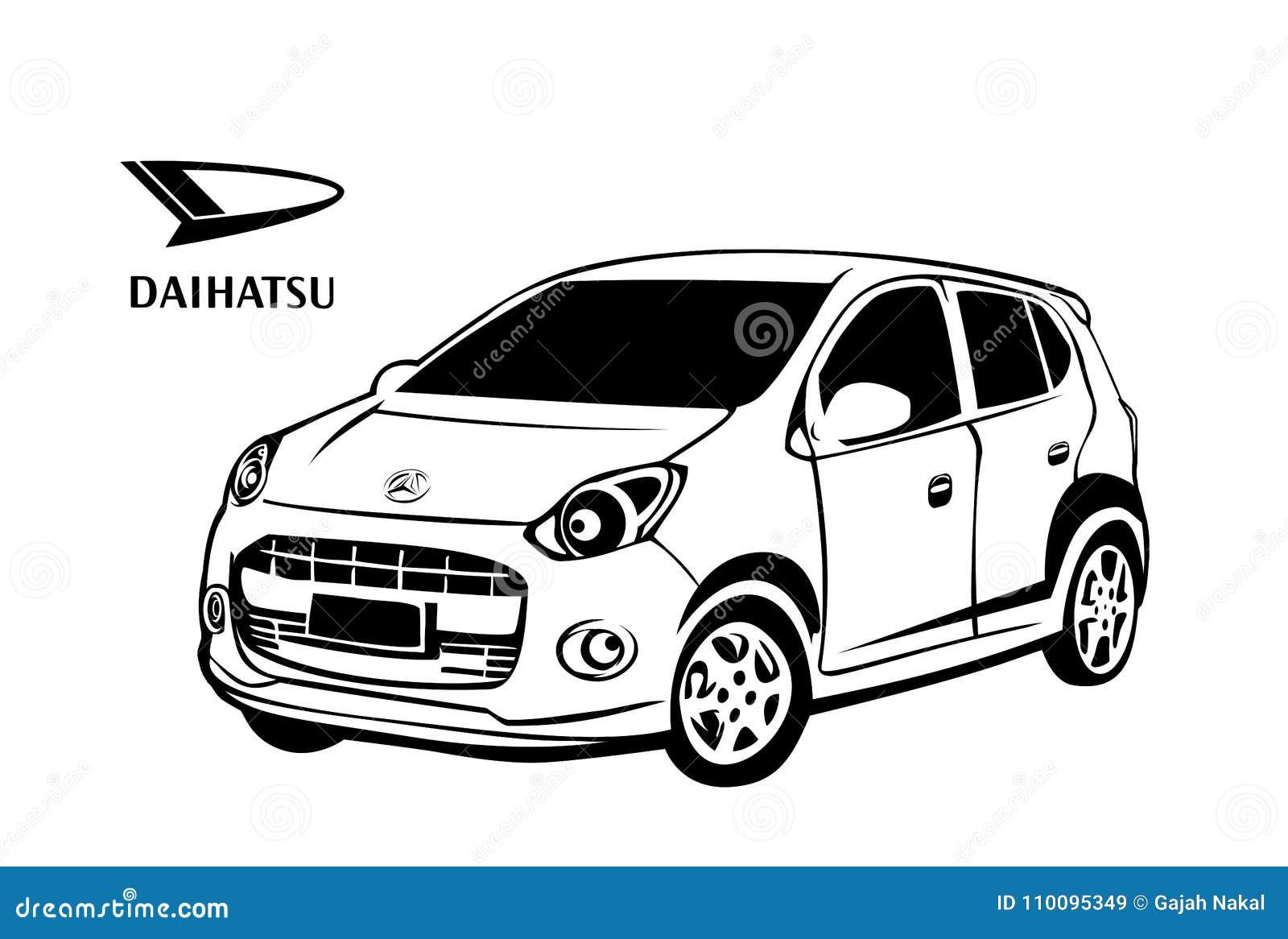daihatsu car vector design editorial stock image  illustration of costum
