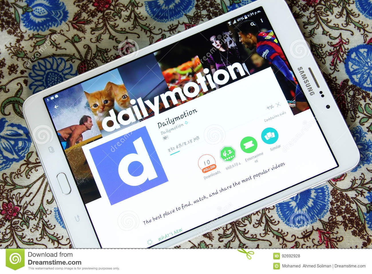 Dailymotion mobile app editorial stock photo  Image of icon