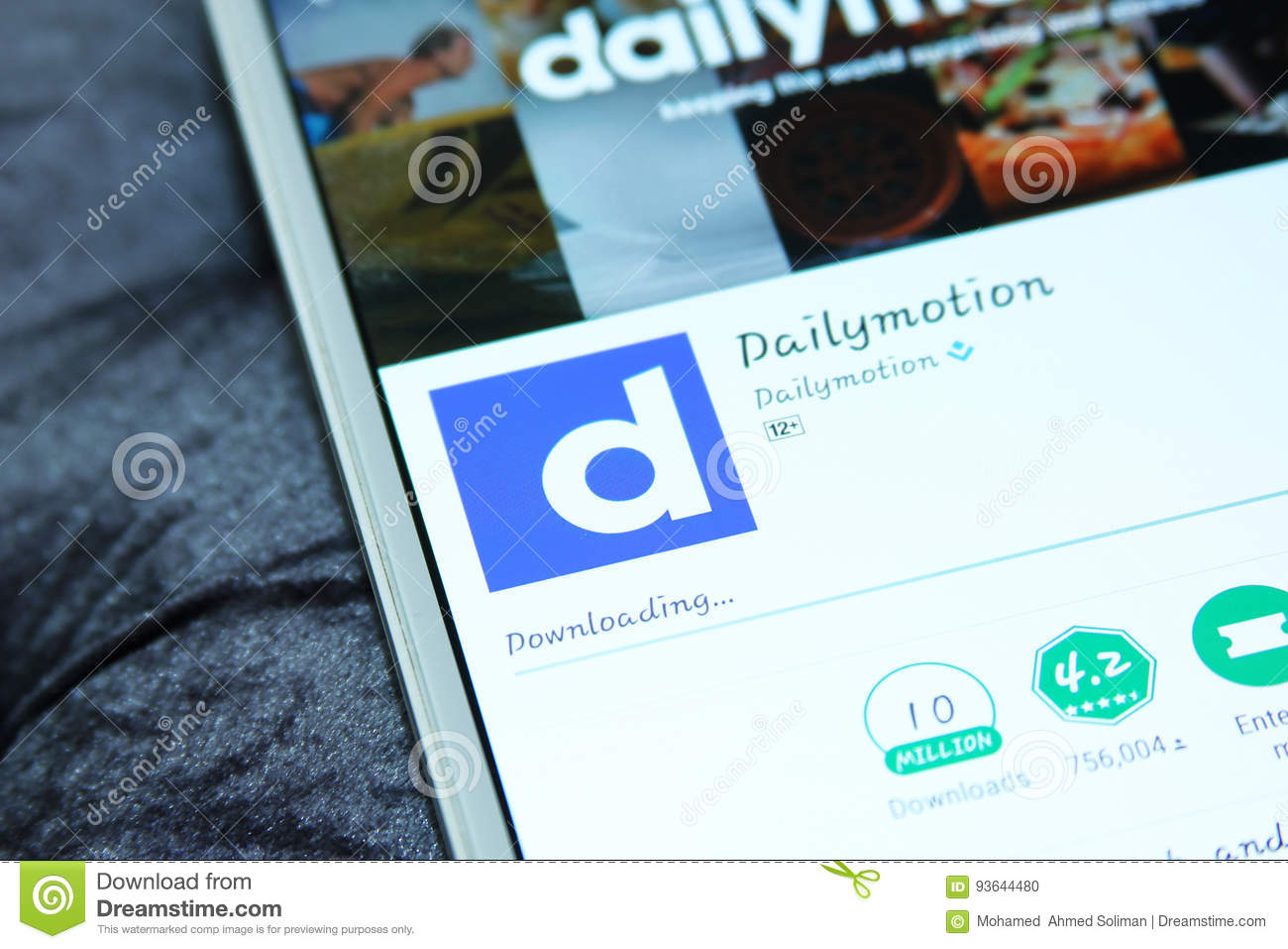 Dailymotion mobile app editorial image  Image of company