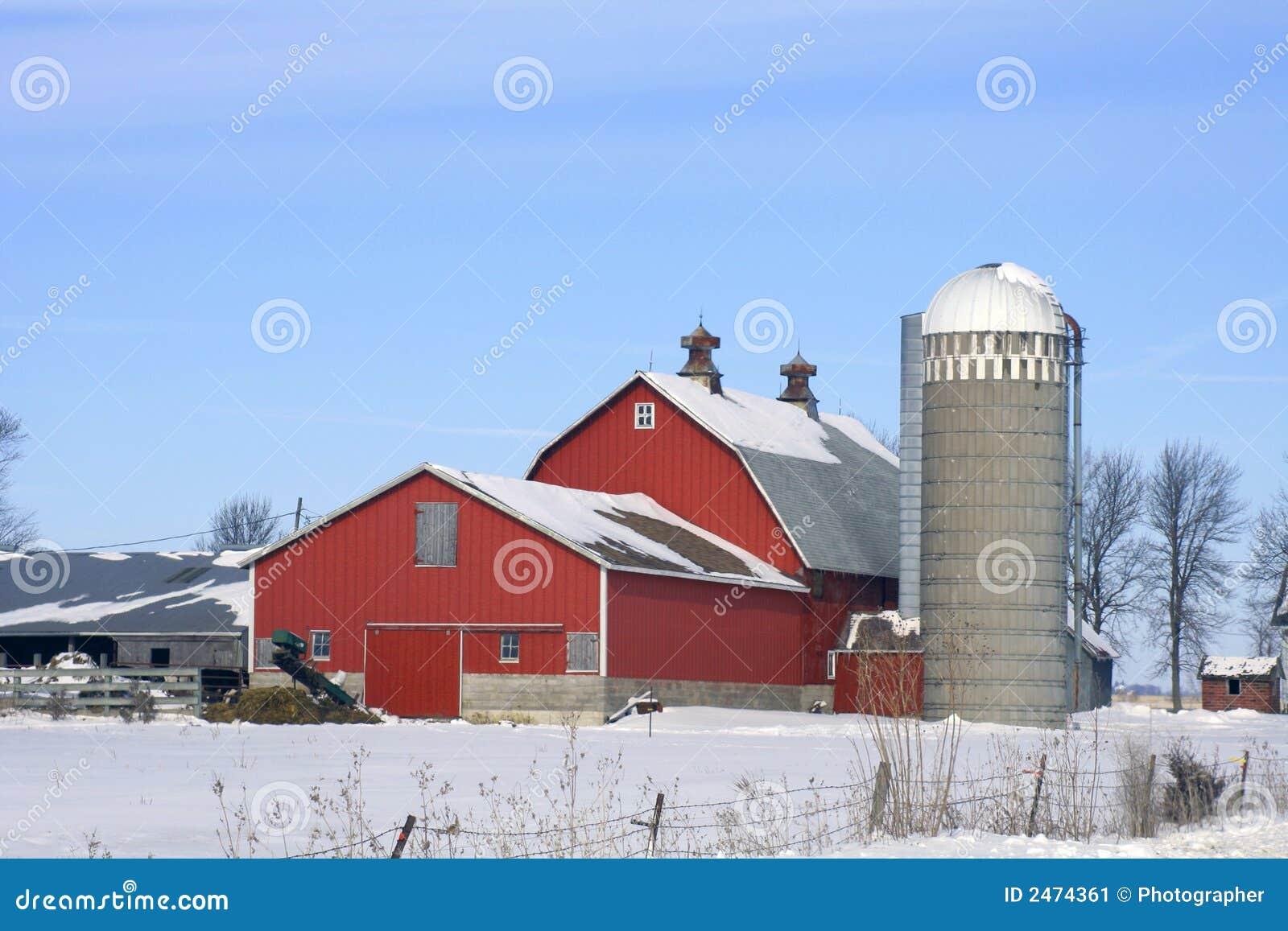 Dairy Farm Winter Stock Image Image Of Winter White