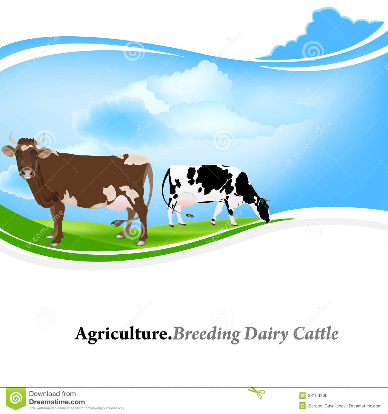 Download Dairy Farming Stock Illustration Of Cloud
