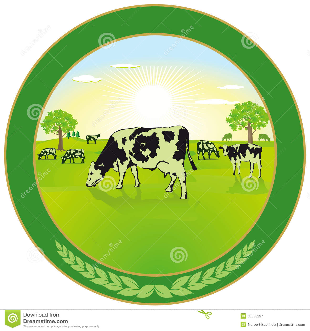 dairy farming label stock vector image of cows fresh