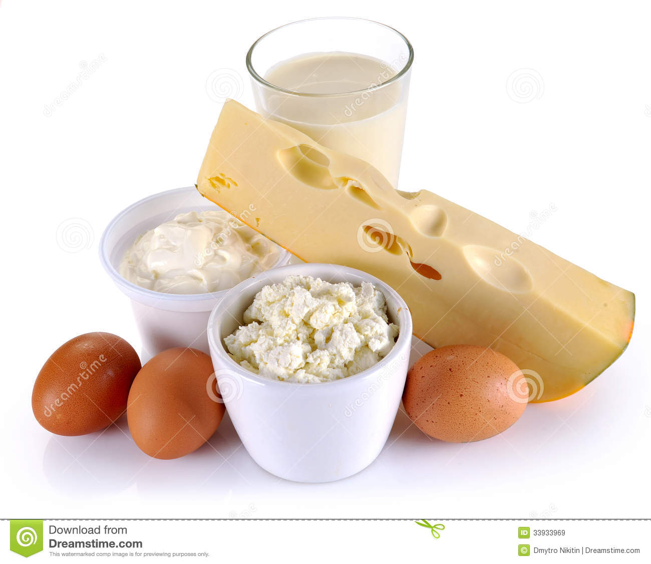 Dairy Products, Cheese And Eggs Stock Image - Image of ...