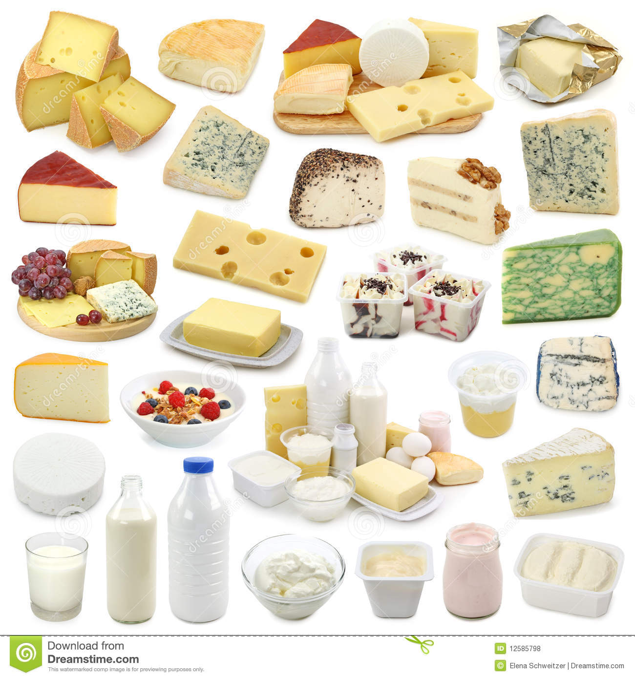 Dairy Products Collection Royalty Free Stock Photos - Image: 12585798