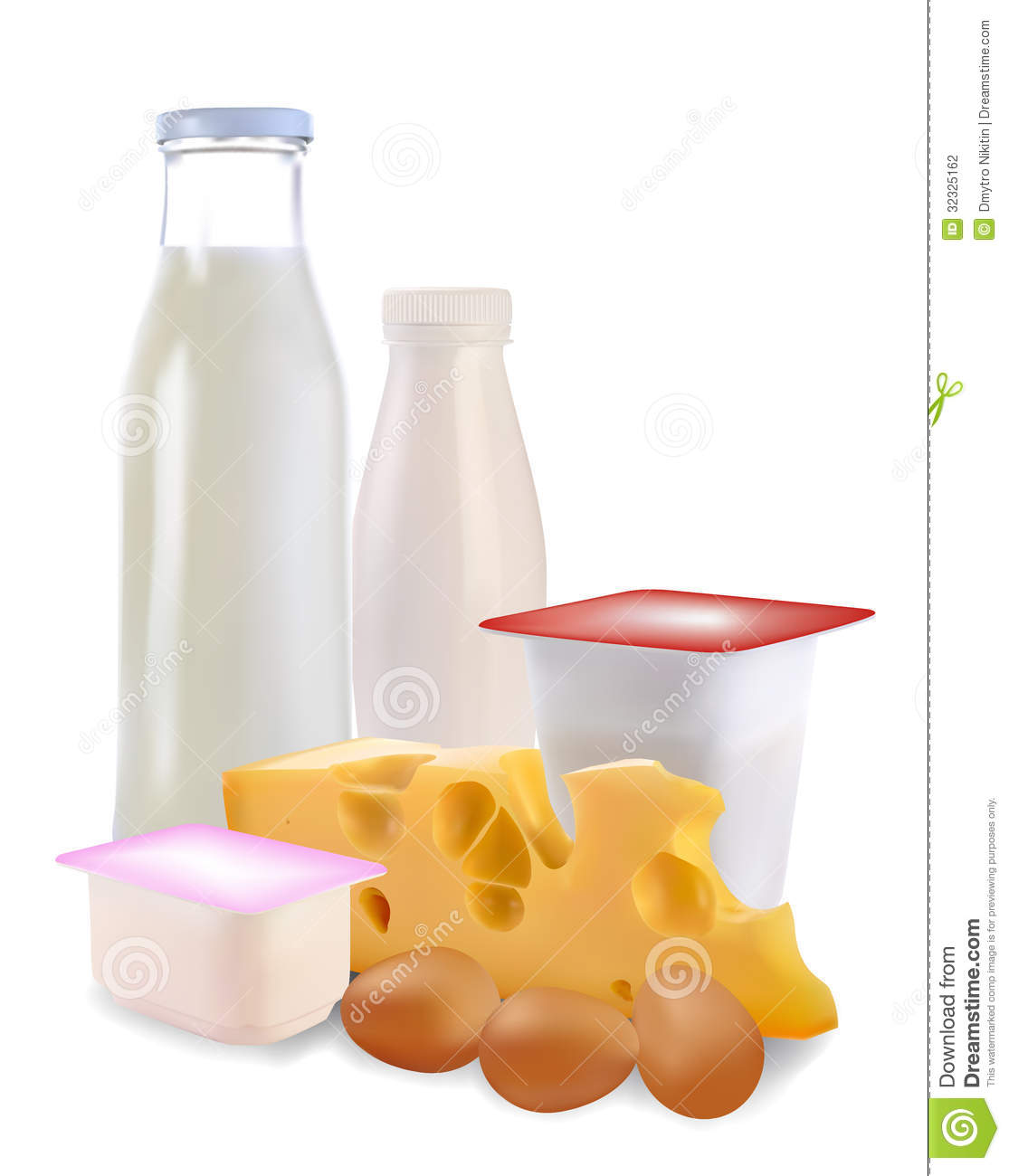 Dairy Products And Eggs Stock Photography Image 32325162