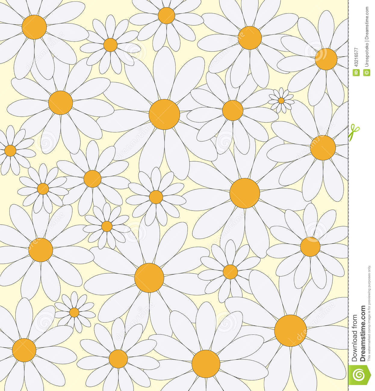 daisies pattern stock vector illustration of nature