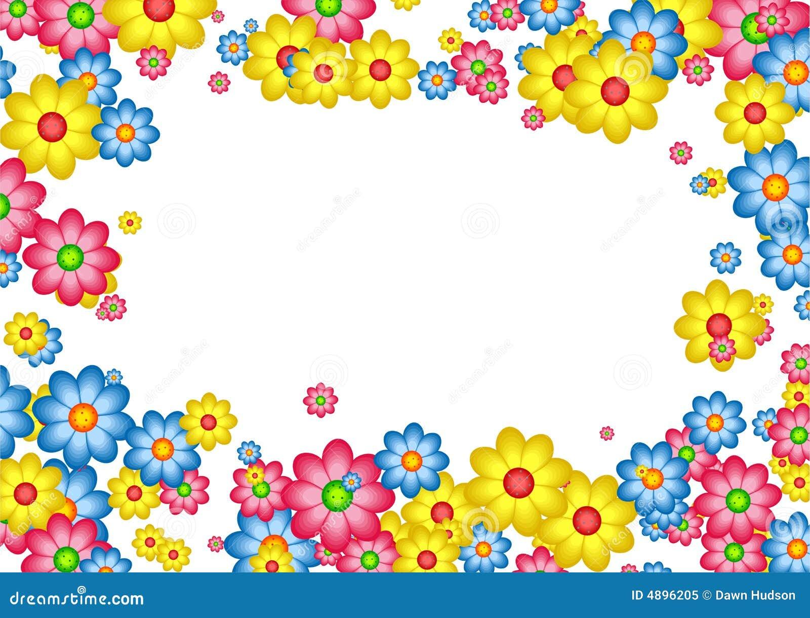 Daisy border stock illustration. Illustration of hedge ...