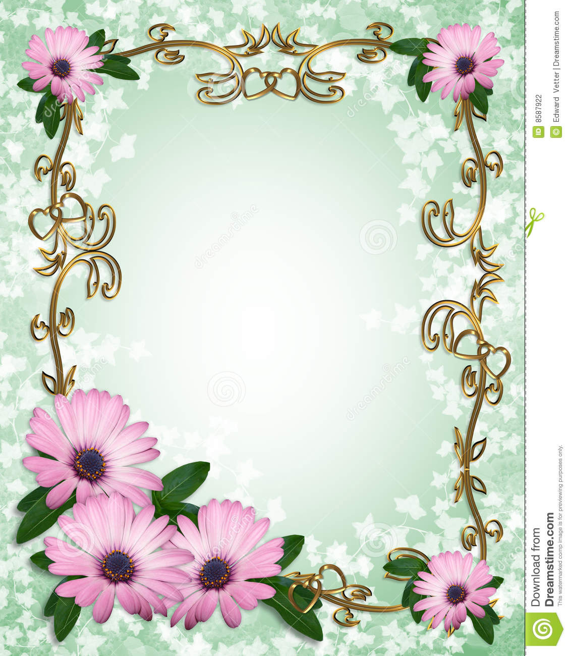 Daisy Border Template Stock Photography Image 8587922
