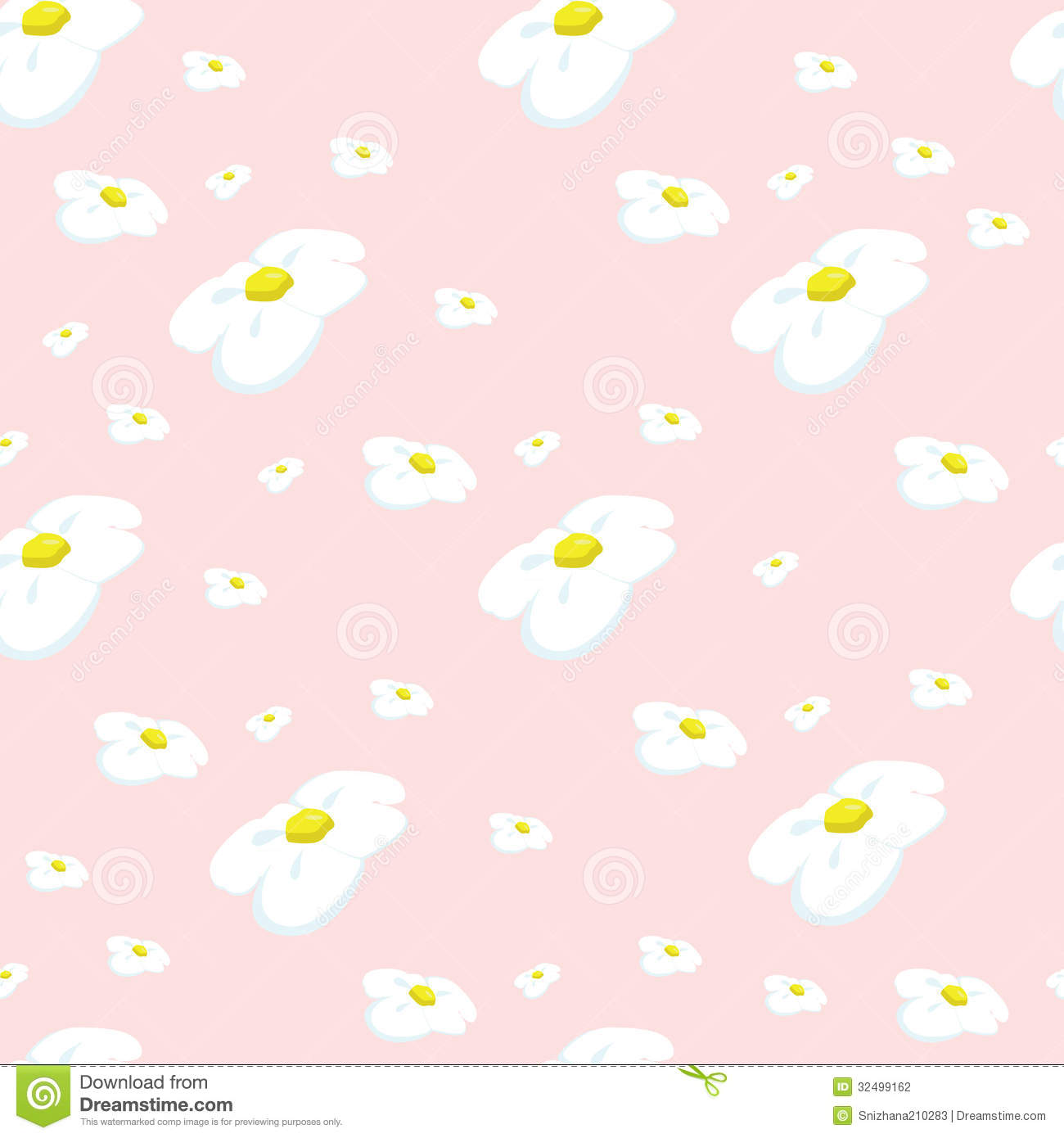 daisy pattern background