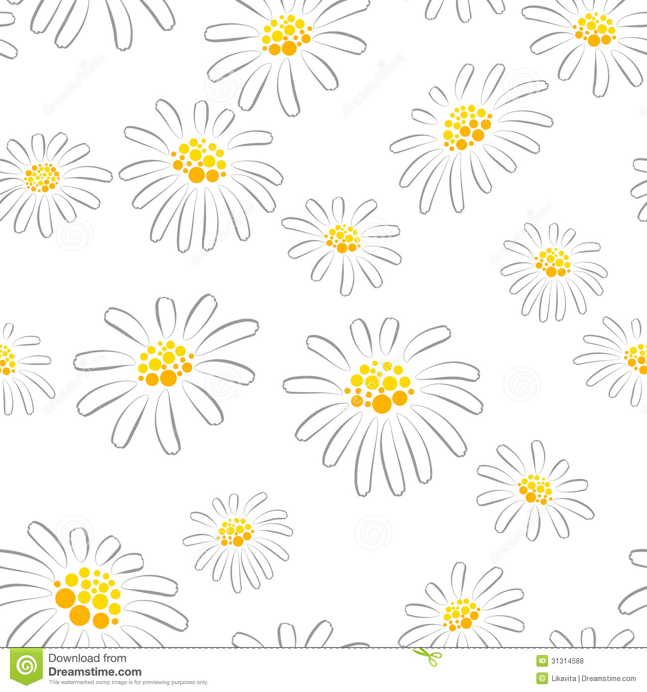 daisy seamless pattern stock photo image of colour