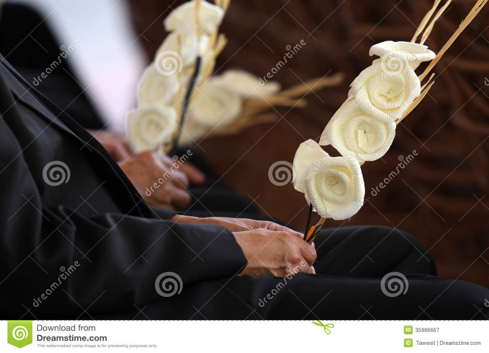 Dakamghantnsdocument bloem in Thaise begrafenis