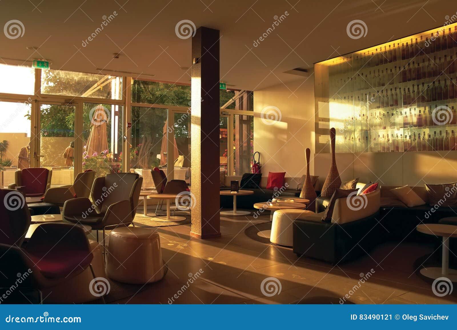 Dakar Afrique, Sénégal, janvier 2013 - le lobby d hôtel