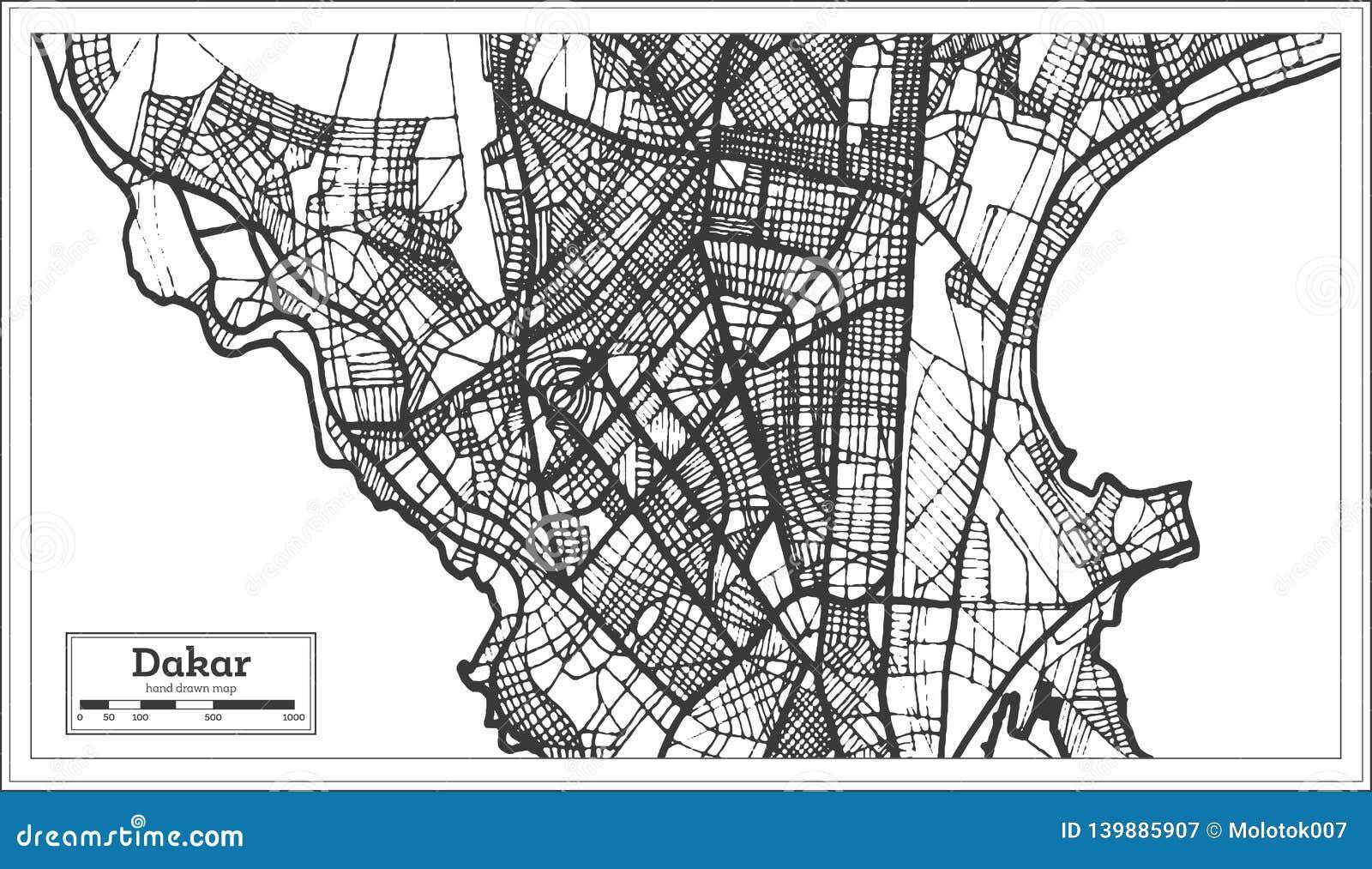 Dakar Senegal City Map In Retro Style. Outline Map Stock ... on abuja nigeria map, lusaka zambia map, johannesburg map, porto novo benin map, africa map, luanda angola map, sahara desert map, beijing china map, banjul gambia map, lagos nigeria map, nairobi kenya map, abidjan ivory coast map, diourbel senegal map, cape verde map, malabo equatorial guinea map, moscow russia map, yaounde cameroon map, warsaw poland map, cairo egypt map, ouagadougou burkina faso map,